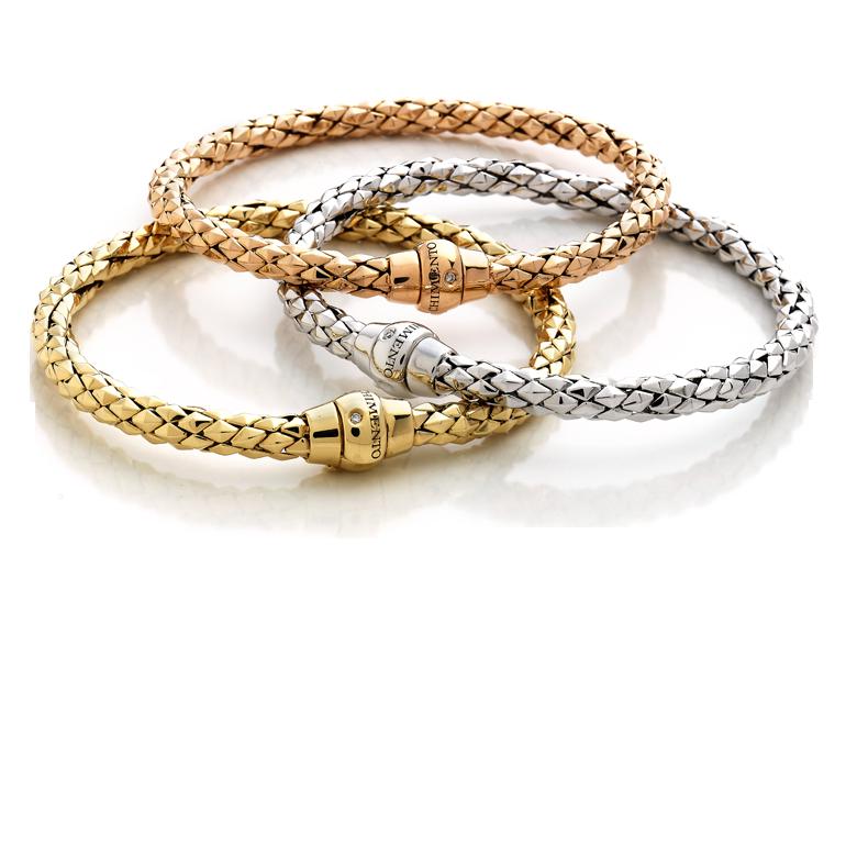 pulseras oro rosa oro blanco