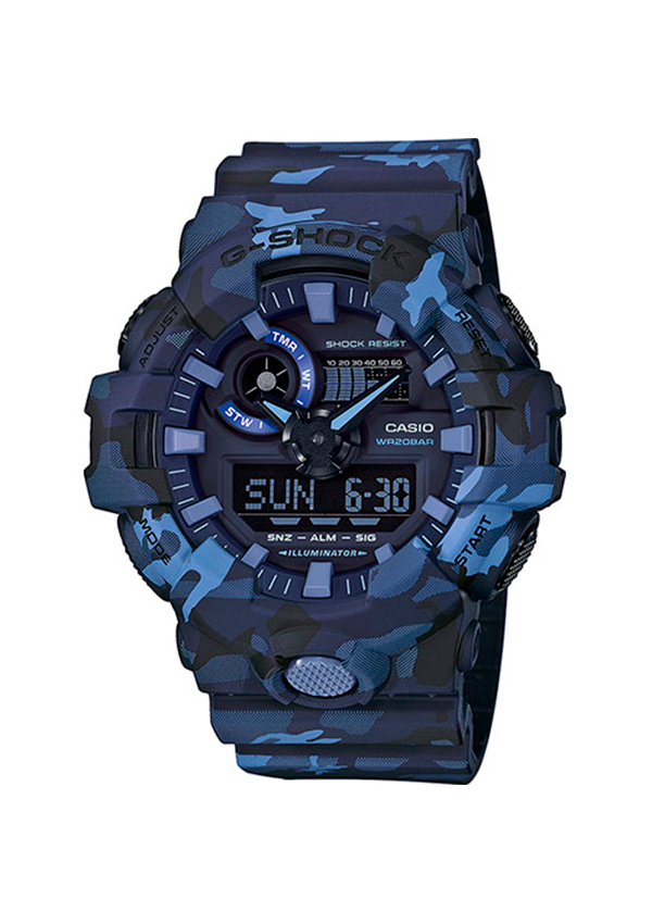 Reloj Casio G-Shock azul camuflaje royo joyeros albacete