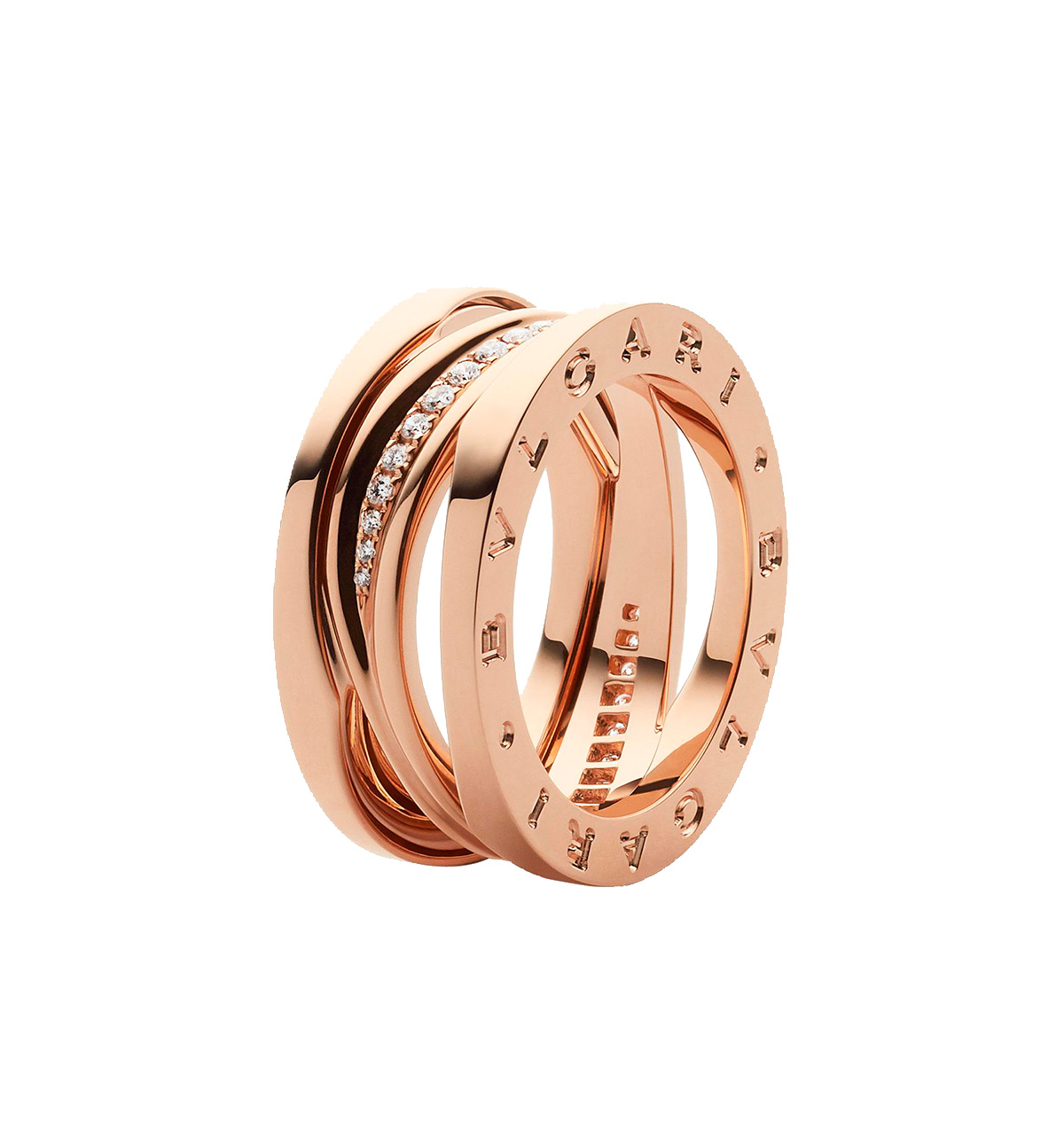 a18d7749c2f8 Anillo B.Zero1 Bulgari Design Legend oro rosa y diamantes
