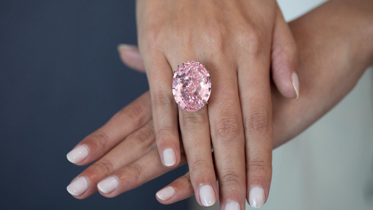 diamante pink star