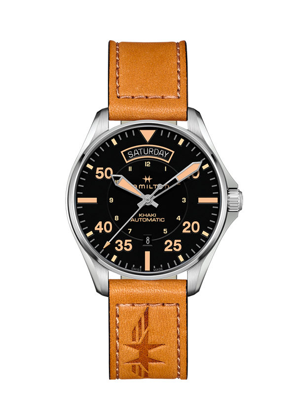 Khaki Aviation Date Auto Hamilton Day Arena Reloj CeodBWrx