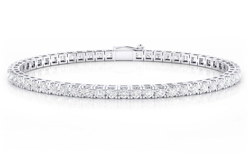 Pulsera Riviere Oro Blanco y Diamantes