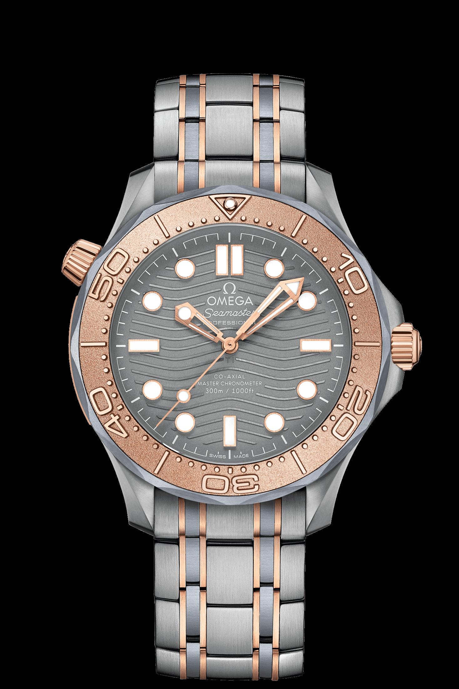 reloj oro, titanio