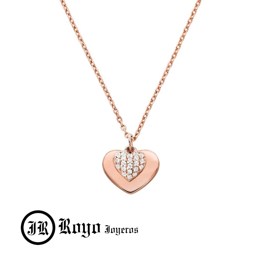 colgante oro rosa corazon